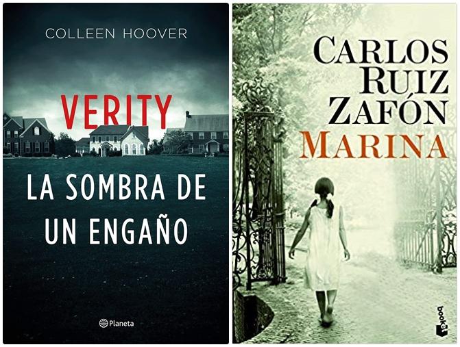 Reseñas: Verity de Collen Hoover y Marina de Carlos Ruíz Zafón