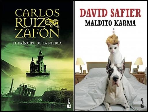 Reseñas: El príncipe de la niebla de Carlos Ruiz Zafón y Maldito Karma de David Safier